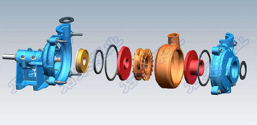 ehm系列渣浆泵结构特点